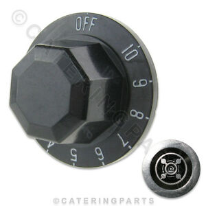 KN61-BLACK-PLASTIC-THERMOSTAT-SWITCH-CONTROL-KNOB-1-10-SOUTHBEND-4-TR05-50mm