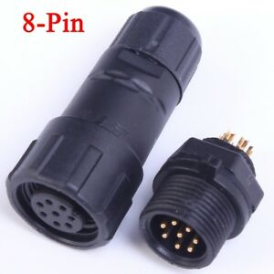 8-Pin-Waterproof-Panel-Cable-Connector-Multipole-plug-Socket-IP68-500V-5A