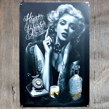 Signs 4 Fun Marilyn Monroe HLYWD Metal License Plate