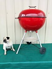 Vintage 1997 Weber Bbq Kettle Grill 215 Red