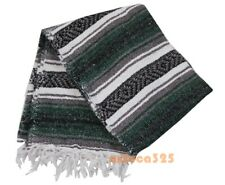 """Topaz Hill Handmade Authentic Mexican Blanket  50/"""" x 72/"""" Grey        C"""