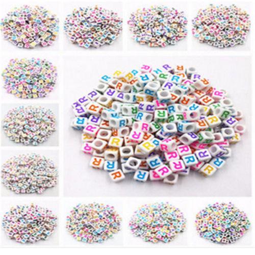 "7x7mm 200-1000 PCS/""A-Z/""Letter Acrylic Beads DIY U Pick Letter Wholesale"