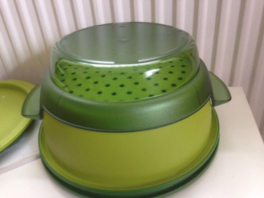 TUPPERWARE -  Micro Gourmet Gourmet Gourmet 101 Dampfgarer  Mikrowelle- Grün-Top Zustand - c77a07