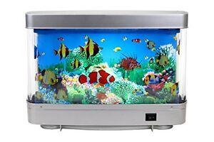 Motion aquarium lamp table aquatic scene ocean in motion for Fake fish tank with moving fish
