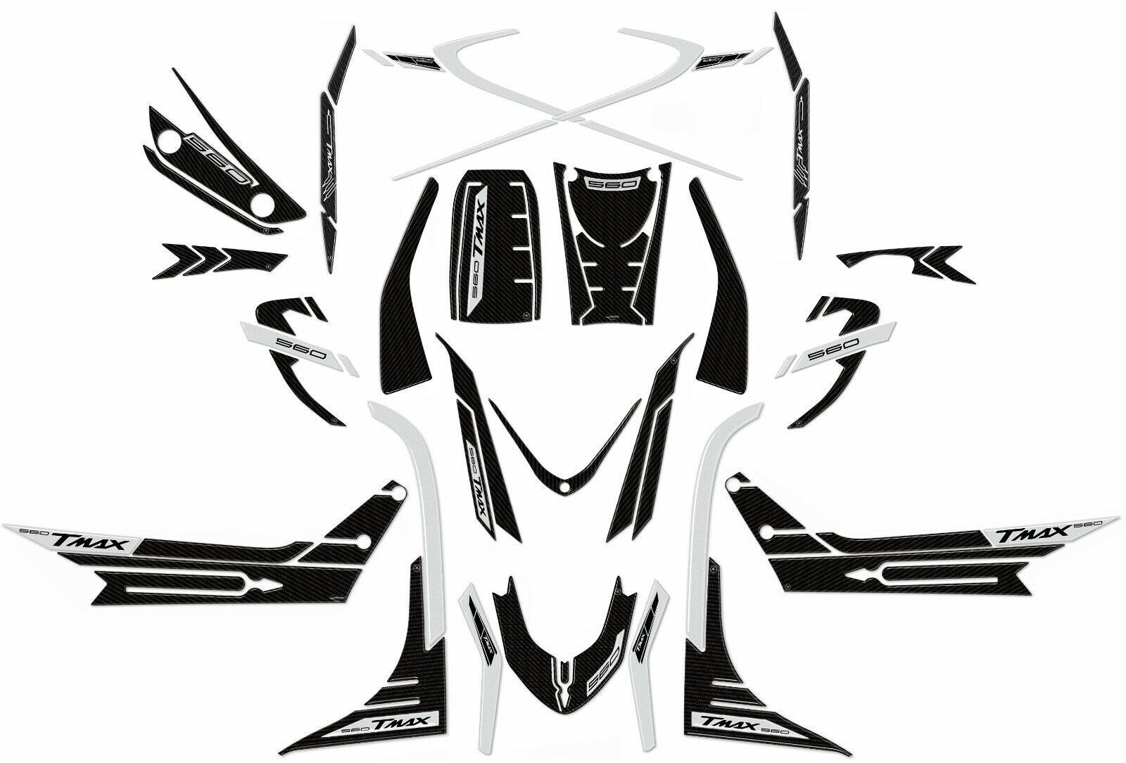 ADESIVI in gel 3D ERGAL per carena Scooter compatibili YAMAHA TMAX 560 dal 2020