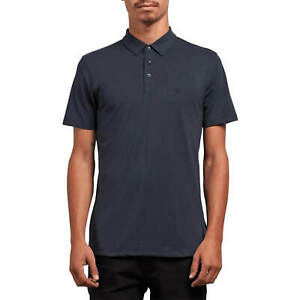 Volcom-Wowzer-Polo-Shirt-Navy-Men-039-s-Polo-Shirt-with-Fold-Down-Collar