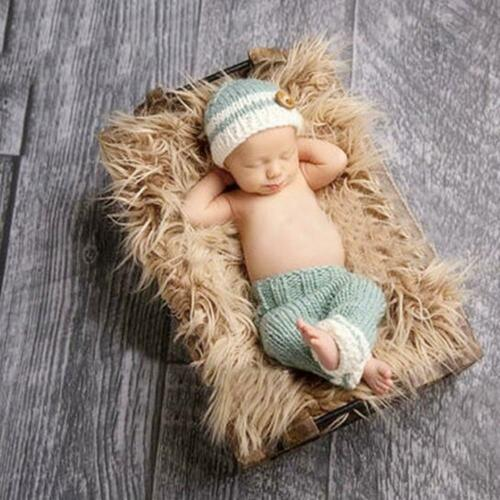 Newborn Baby Knit Clothes Photo Crochet Costume Prop Outfit Xmas Dress Hat Lot