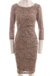 ee5eeb312b Ronni Nicole New Women s Lace Dress Three Quarter Sleeve Tiered ...