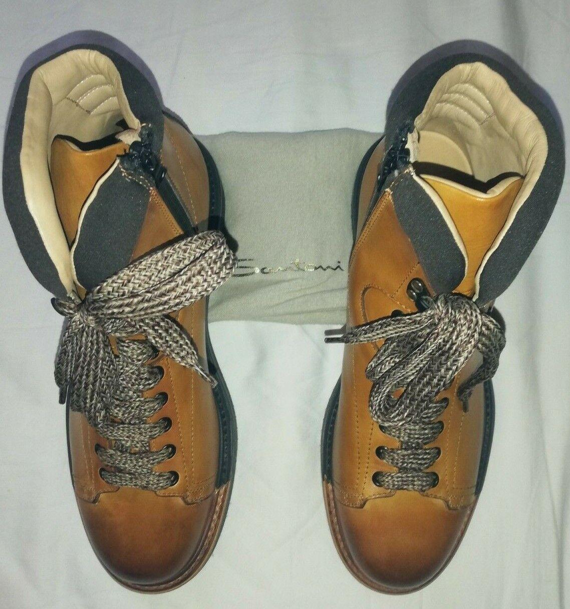 Santoni Homme Bottes, taille 8.5 neuf beige marron... rare...