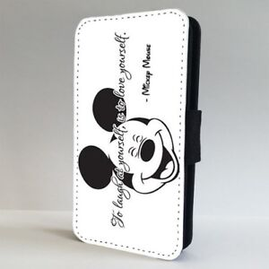 half off 4242d a6476 Details about Mickey Mouse Laughing Quote Disney FLIP PHONE CASE COVER for  IPHONE SAMSUNG