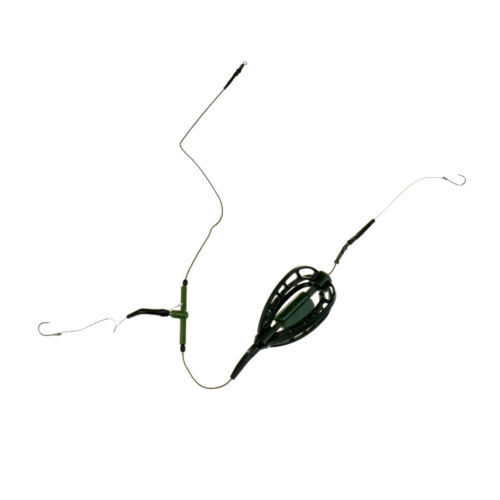 Pack of 2 Pieces Fishing Bait Cage Carp Fishing Feeder with Sinker Basket
