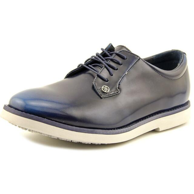 G/Fore The Gallivanter Men  Round Toe Leather Blue Oxford