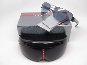 6b354d8fa6c New Authentic Prada Sport SPS 53N 1BC-5I1 Silver w Grey Blue ...