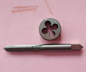 Lots-1pc-HSS-Machine-1-4-32-UNEF-Plug-Tap-and-1pc-1-4-32-UNEF-Die-Threading-Tool