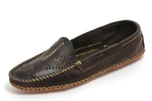 M3 Mokassins Buffalo Stickerei Indianer Hippie Boho Ethno Sioux Unisex Schuhe 41