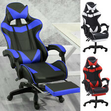 Computer Gaming Racing Chair Leather High Back Office Recliner Desk Seat Swivel