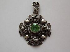 Vintage 950 Silver Jerusalem Cross Pendant