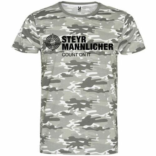 steyr mannlicher Hunting and Sporting Rifles logo Men t-shirt