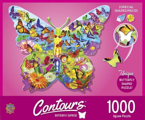 Butterfly Shape 1000 Piece Jigsaw Puzzle
