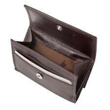 DV Portafoglio in pelle piccolo da uomo di colore MARRONE S con carte di credito