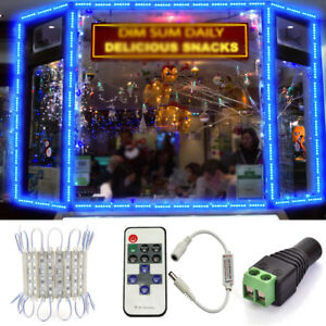 Remote-US-Blue-6-LED-Super-Bright-Waterproof-5054-SMD-Module-Light-Sign-Lamp-HOT