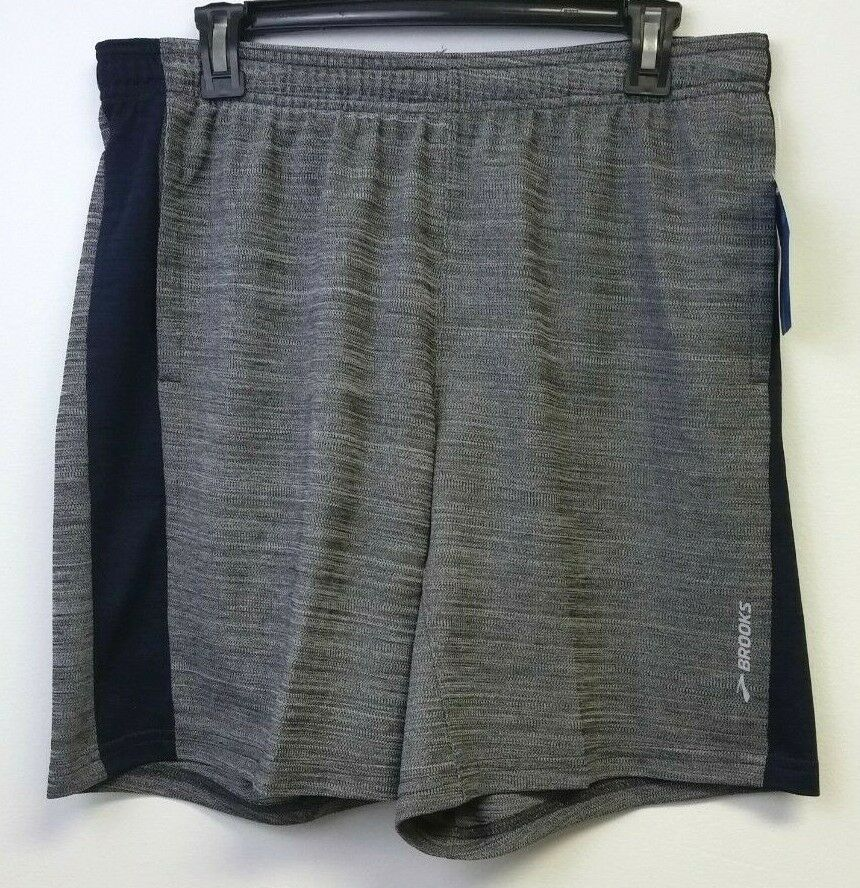 Spring '19  Brooks Men's Rep 8  Shorts - Size M - Heather Ash - Free Shipping