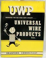 UWP UNIVERSAL WIRE PRODUCTS CATALOG & PRICE LIST BROCHURE 1954 VINTAGE