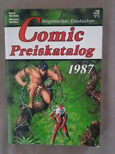 Comic Preiskatalog von 1987