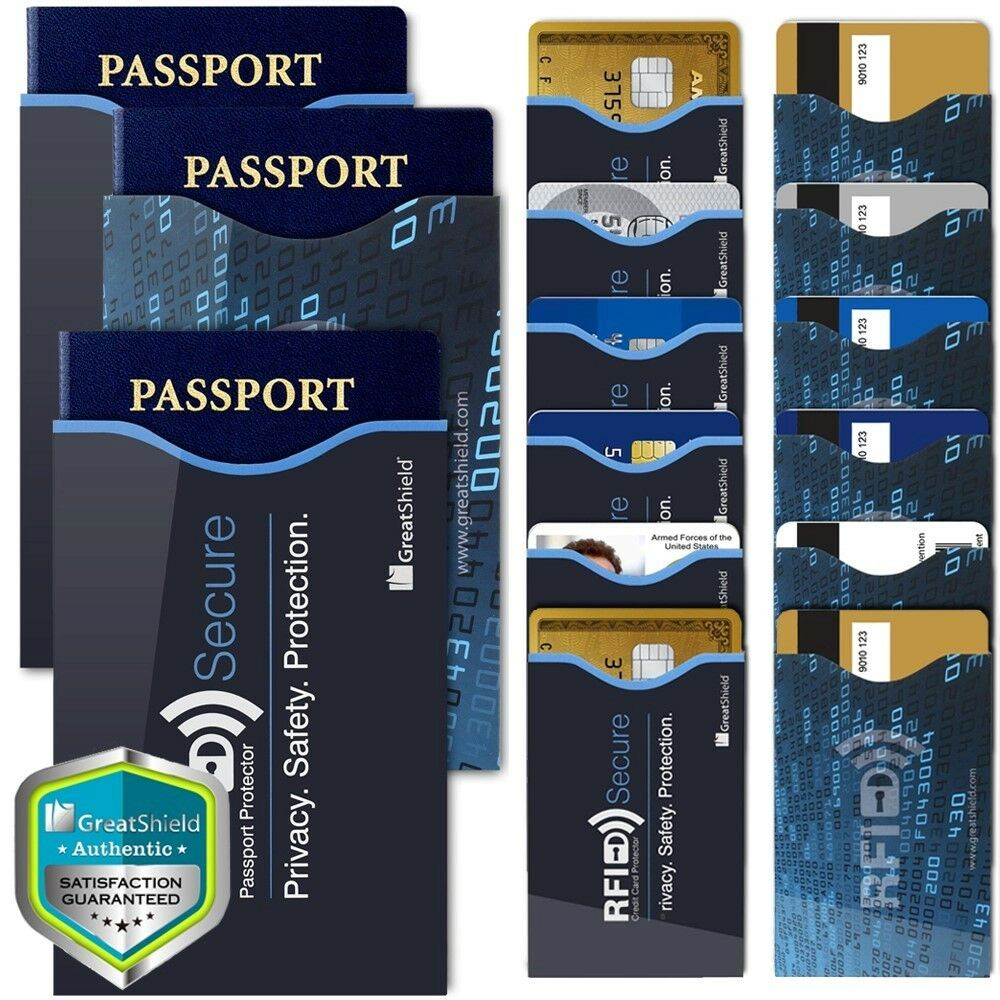 15 RFID Blocking Credit Card Passport Holder Case Cover Safety Sleeve ... - s l1600
