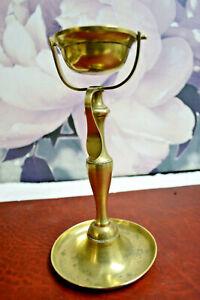 Ancien Lampe à Huile De Marine 19eme En Bronze
