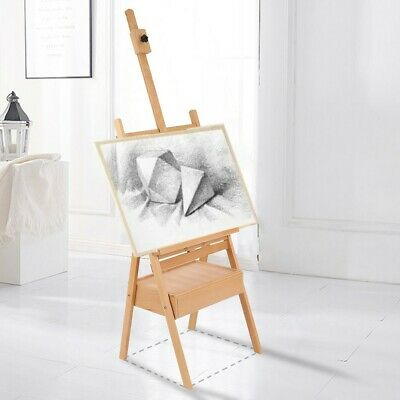 New Oil Painting Easel Sketch Box Portable Folding Durable Artist Tripod Wooden