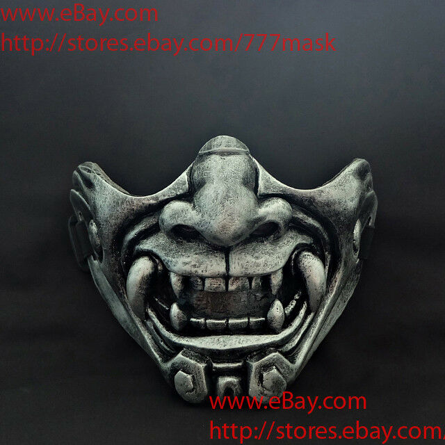 Oni Airsoft Mask Paintball BB Gun Half Face Devil Demon Evil Japanese Noh MA229