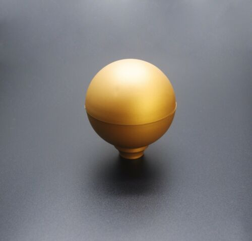 """6 x Gold Sphere Round Top Fence Finials /& 3/"""" White Fence Post Caps UK Mde GT0073"""