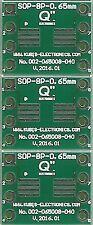 """3 Stück - Adapterplatine für SOP8,MSOP8,TSOP8 mit 0.65mm auf DIP8 0.4"""". [DE]"""