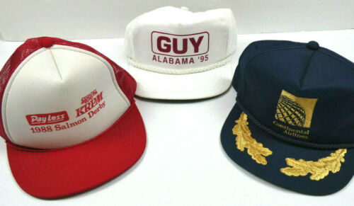Lot Of 3 Vintage Snapback/Trucker Hats