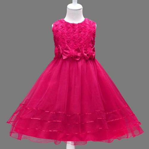 Kids Toddler Girls Beauty Pageant Party Dress Lace Princess Wedding Formal Dress