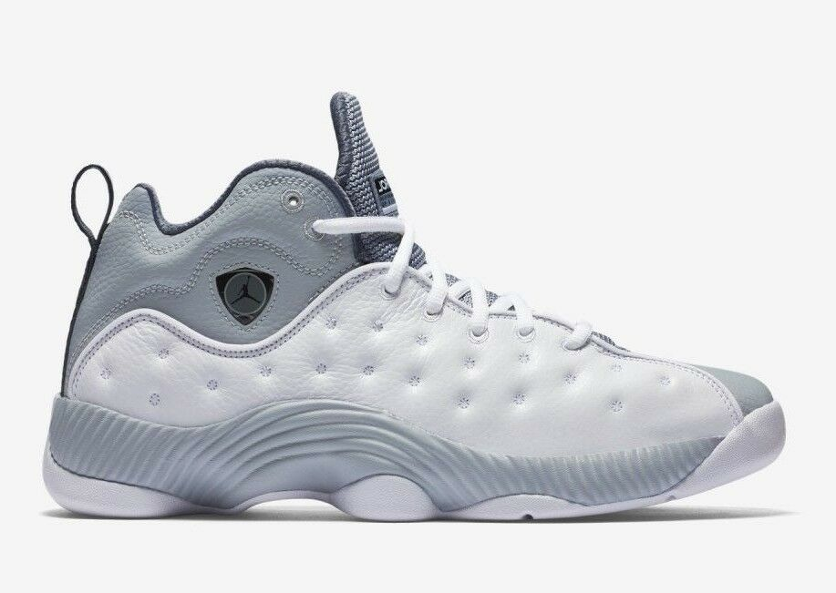 Nike Uomo Air Jordan JUMPMAN TEAM II Shoes White/Grey 819175-103 b