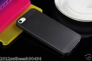 0-29mm-Ultra-thin-matte-Case-cover-for-iPhone-5-5S-Translucent-slim-Soft-034-Black-034