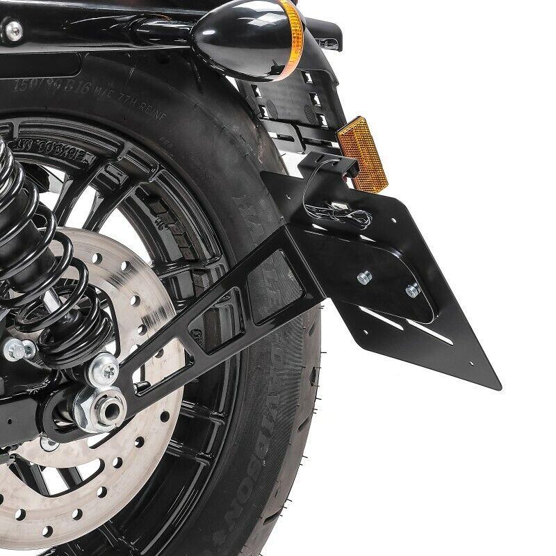 Kennzeichenhalter seitlich S für Harley Sportster 1200 Iron 18-20 schwarz
