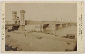 Pont Del Reno Colonia Germania Foto CDV PL52L3n Vintage Albumina