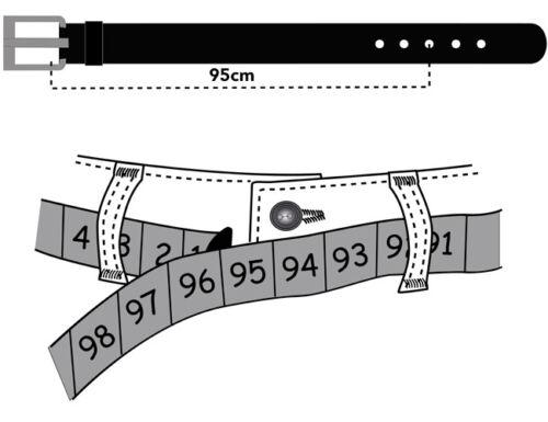 Herren Ledergürtel breit Echt Leder Gürtel 100/%RINDLEDER 2,8cm ABVERAUF
