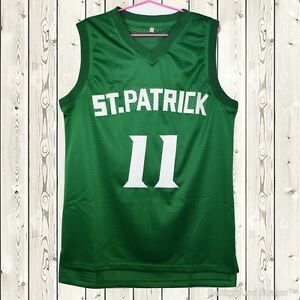 save off 09356 eb9cf Details about Kyrie Irving #11 St. Patrick High School Stitched Basketball  Jersey Green