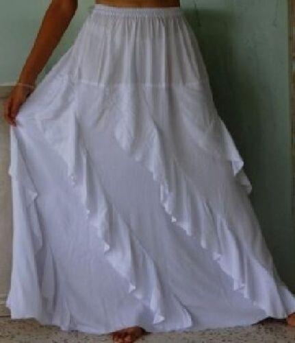 white skirt long diagonal lagnelook OS 1X 2X 3X 4X 5X 6X  plus ruffles asym