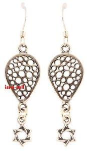 925-Sterling-Silver-STAR-OF-DAVID-EARRINGS-Jewish-Jewelry-Judaica-Gift