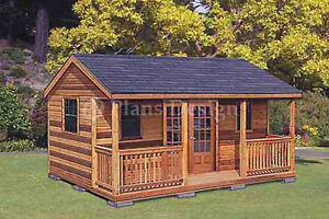16 x 20 Cabin Shed Guest House Building Plans