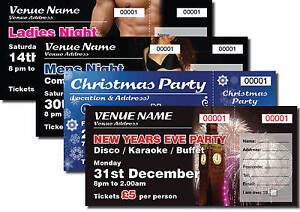 personalised event tickets numbered perforated any design ebay