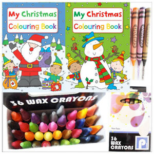 CHRISTMAS-Colouring-Book-Kids-Wax-Fun-Activity-Children-Crayons-School-Xmas-GIFT