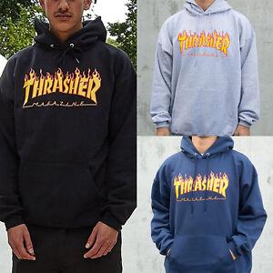 Homme-Vestes-Sweat-a-Capuche-Hip-hop-Skateboard-Trasher-Femme-Sweatshirts-Pulls
