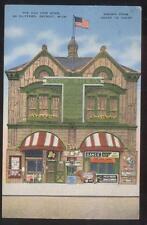 Postcard DETROIT Michigan/MI  Old Cow Shed Restaurant view 1930's