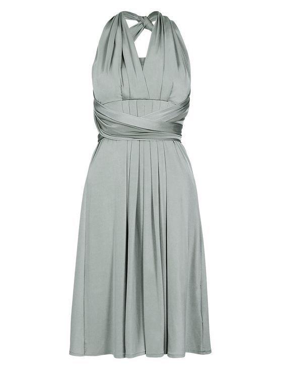 New M&S Collection Satin Sage Grün Multiway 5 in in in 1 Dress Sz UK 18 | Schönes Design  | Vorzugspreis  | Deutschland Store  d0b665